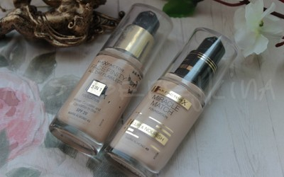Новинка MIiracle match foundation Blur & Nourish против бестселлера марки - Facefinity 3-in-1.