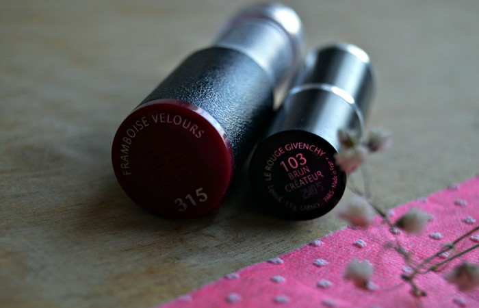 Givenchy Le Rouge #103 Brun Createur и Intense Color Sensuously Mat Lip Color #315 Framboise Velours
