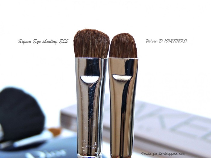 sravnenie Valeri D 10m 722ko i Sigma Eye shading brush E55 4, отзыв, Валери-Д
