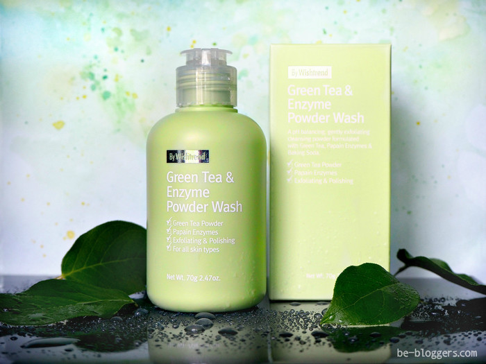 Энзимная пудра Wishtrend, Green Tea & Enzyme Powder Wash, отзыв
