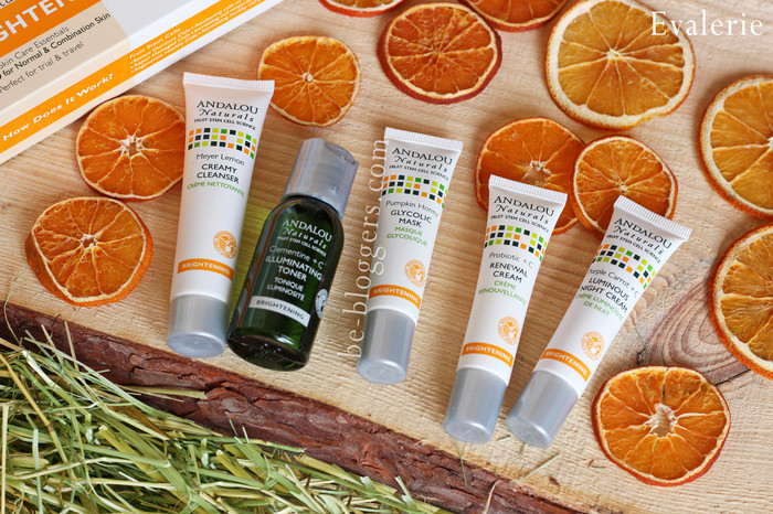 Andalou Naturals Get Started Brightening Skin Care Essentials 5 Piece Kit otzyvy