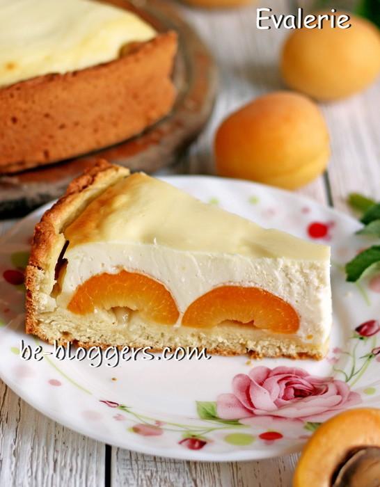 творожный пирог с абрикосами рецепт с фото