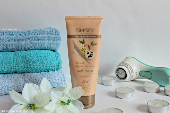 Очищающая пенка Shary Soft foam cleansing Noni&Hyaluronic acid, отзыв