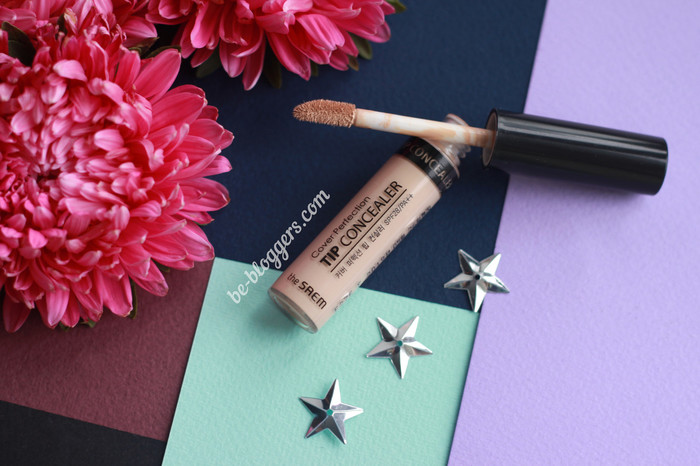 Корейский консилер The Saem Cover Perfection Tip Concealer 01