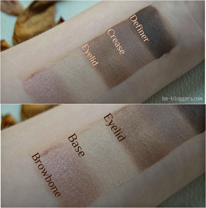 Wet n Wild, Color Icon Eye Shadow Palette, E3961 bare and beatiful, свотчи