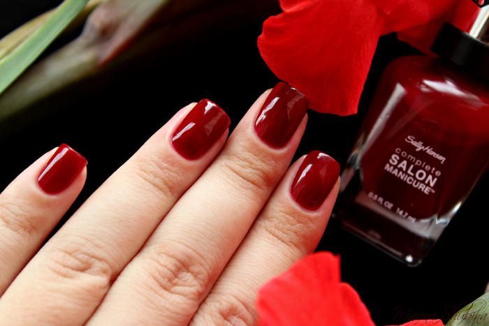 Sally Hansen Salon Complete Manicure 610 Red Zin