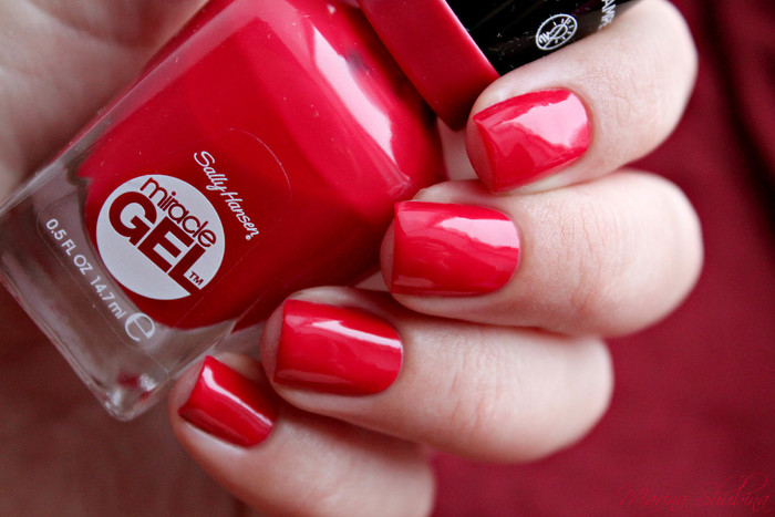Sally Hansen Miracle Gel 444 Off With Her Red