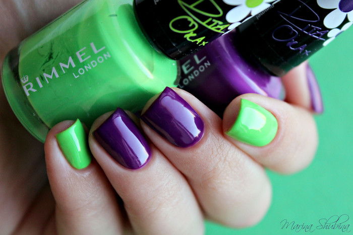 Rimmel 60 Seconds Rita Ora 461 Happy Glamper + 562 Pump Up The Purple