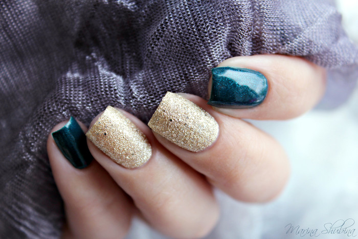 Stellary 91 Морская нимфа и NailLook Real Sugar Glitz 31085 Pure Vanity