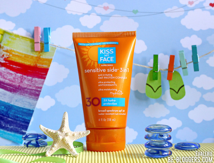 kiss my face sensitive side 3in1 sunscreen spf 30, отзыв, фото