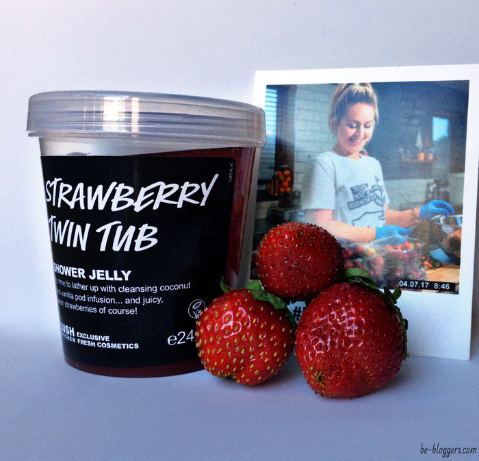 strawberry twin tub shower jelly lush