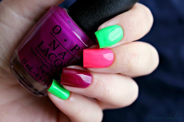 OPI Neon Collection Push & Pur-Pull