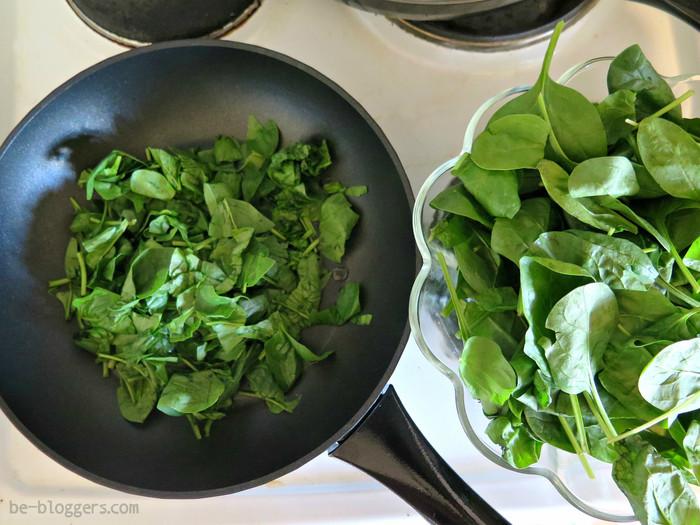 Улитка со шпинатом и сыром - рецепт пошаговый с фото
