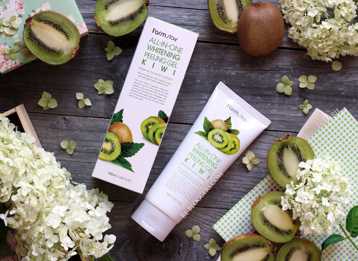 farmstay all in one whitening kiwi peeling gel otzyv
