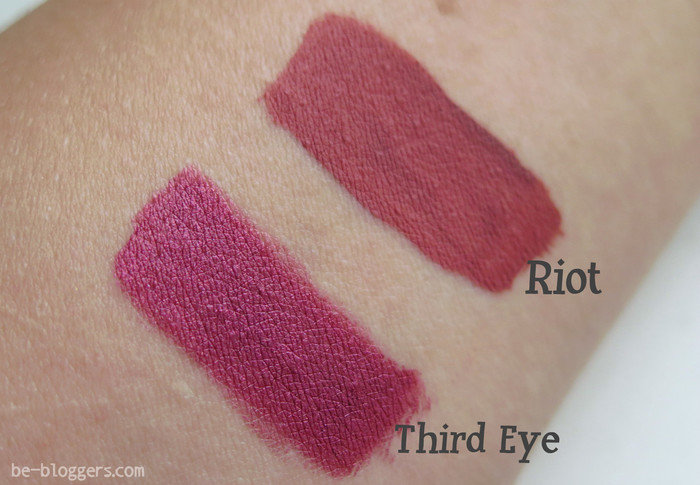 Lime crime, Third Eye, Perlees и Riot, Matte Velvetines, свотчи