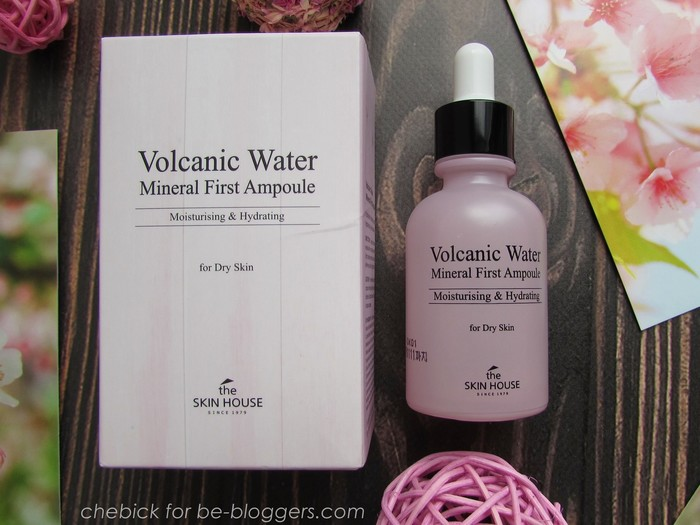 volcanic water mineral first ampoule от the skin house: обзор