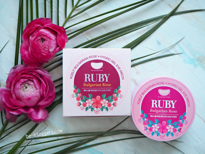 Гидрогелевые патчи с рубиновой пудрой и болгарской розой Koelf Ruby & Bulgarian Rose Eye Patch, отзыв