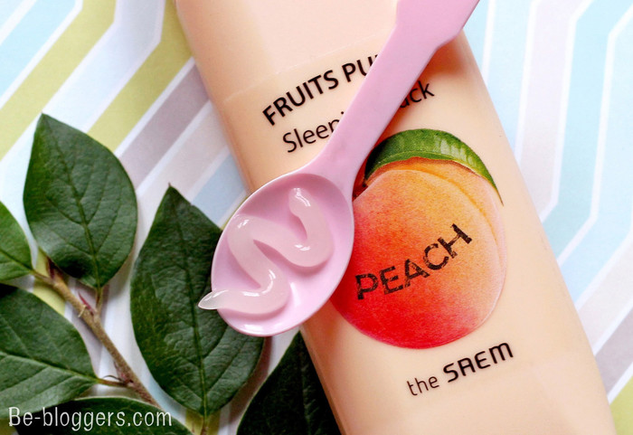 лучшая корейская маска для лица, the Saem Fruits Punch Peach Sleeping Pack персиковый пунш отзыв