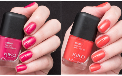 Kiko Smart Nail Lacquer Collection – #18 (Magenta), #10 (Geranium Red)