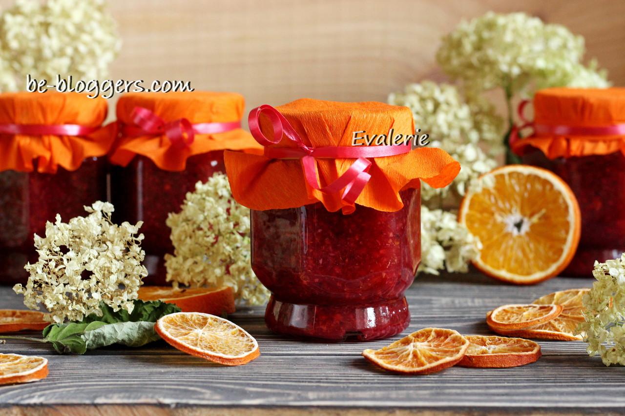 рецепт варенья из черной смородины, малины, апельсина без варки
